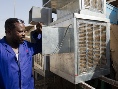Air-Conditioning Entrepreneur from Kassala, the capital of Kassala State in Sudan expanded his business using a microfinance loan from the MDTF-N Project in Sudan.  Photo: © Salahaldeen Nadir / World Bank