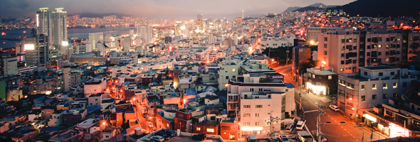 A view of Busan, the Republic of Korea's second largest city after Seoul, with a population of approximately 3.6 million as of 2010. Half of the world's population lives in urban environments. One billion people, one out of three urban dwellers, are living in slum conditions today. Providing them with better housing and education will be one of the great challenges facing a world of 7 billion people and counting. © UN Photo/Kibae Park